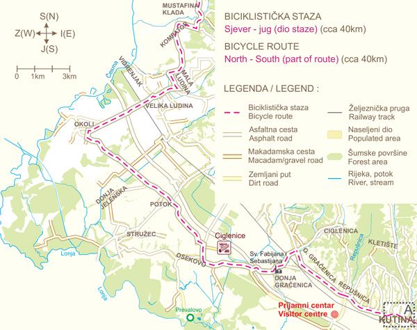 """Biciklistička staza """"Sjever - jug"""""""
