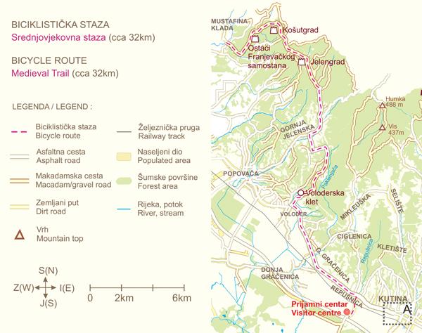 """Biciklistička staza """"Srednjovjekovna staza"""""""